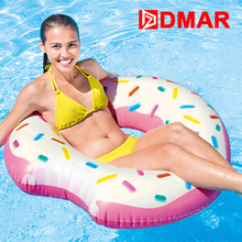 DMAR Inflatable Donut Swimming Ring Swimming Circle Giant Pool Float Toys Beach Sea Summer Inflatable Mattress Adult 2017 NEW
