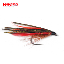 10PCS 7# Wifreo Red Peacock Demon Streamer Fly Fishing Flies Free Box(China)