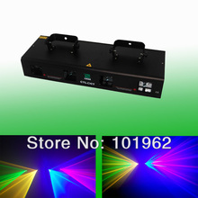 Quad 800mW Red Green Yellow Blue DMX Dj laser lighting party disco stage lights(China)