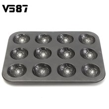 12 Grid Aluminum Cake Mould Football Cake Mould Oven Pan Stainless Steel Cake Baking Tools Cute Mini Donut Maker Donut Pan