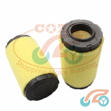2 pcs Lawn Mower Air Filter Gardening Lawnmower Fitting for Briggs Stratton 793569 JOHN DEERE GY21055 MIU11511 for ROTARY 12673(China)