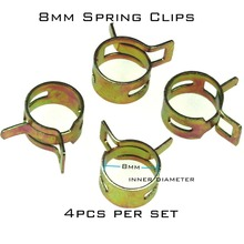 4pcs 8mm Steel Band Motorcycle Scooter ATV Fuel Line Hose Tubing Spring Clips Clamps(China)