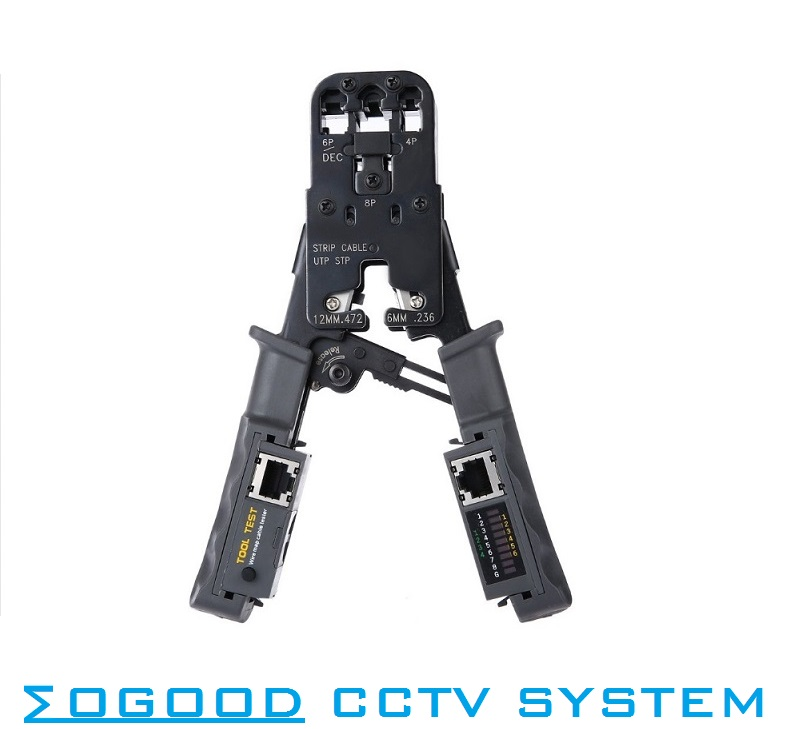 MoGood 2 in 1 Network Cable Crimping Pliers Test Crimping RJ45/RJ11/RJ9 for 4P/6P/8P Multi-Wired Cable-in Networking Tools<br>