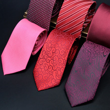 CityRaider Brand Designer Mens Gravate  Red Wedding Ties For Men Neck Tie 7cm Slim Neckties Casual Men's Corbatas Cravate LD031