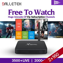 Dalletektv IPTV 3500 Channels Subtv Subscription X98PRO Android 6.0 TV Box Smart IPTV Europe Arabic Sweden French Top Box(China)