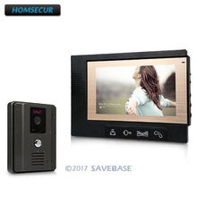 "HOMSECUR 7"" Video Door Phone Doorbell Home Door Bell Intercom Kit Camera Monitor Security(China)"
