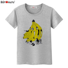 BGtomato T shirt Creative design banana people funny t shirts Hot sale brand new t-shirt women Cheap sale harajuku top(China)
