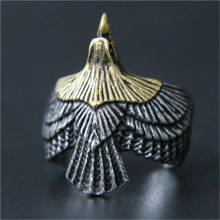 3pcs/lot Fast Shipping Golden Silver Flying Eagle Ring 316L Stainless Steel Jewelry New Biker Eagle Ring(China)