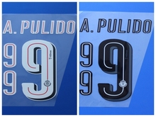 2016 2017 Guadalajara Chivas Home away 9 A.PULIDO custom football number font print ,stamping Soccer patch badge
