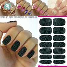 2pcs/lots Water transfer sticker leather texture Manicure full sticker sticker nail beauty accessories K5645(China)