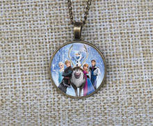 New cartoon snow snowman girl Frozen necklaces Custom pictures pendant necklace collares jewelry gift ideas for women con nombre