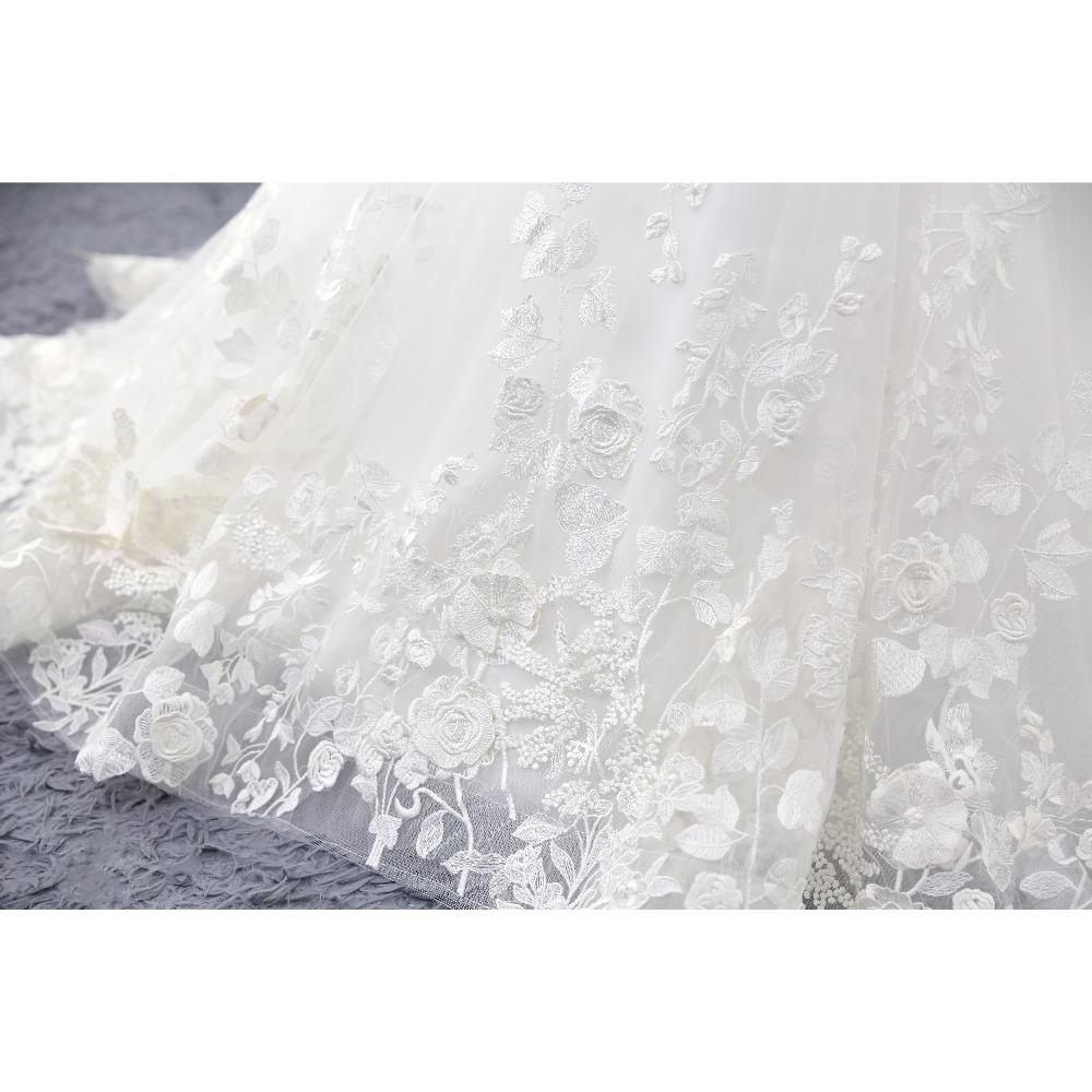 Lover Kiss Wedding Dress 2017 Vintage Mermaid Lace Appliques Bead Robe de Mariage Sexy Back Bride Dresses Vestido de Noiva 9