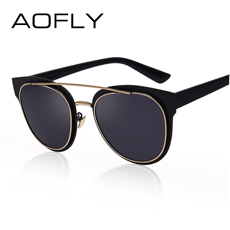 AOFLY Cat Eyes Womens Sunglasses Polarized Vintage Sun glasses Woman Twin Beam Style Reflective Mirror Shades Brand Designer<br><br>Aliexpress