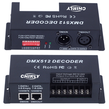 4 Channel*5A RGBW DMX 512 LED Decoder Controller DMX dimmer use for DC12-24V RGBW RGB LED light(China)