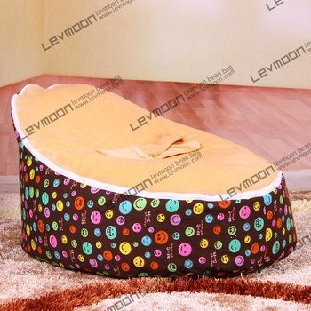 FREE SHIPPING bean bag cover with 2pcs lemon up cover fabric sofa chair waterproof bean bags pattern baby seat cover<br>