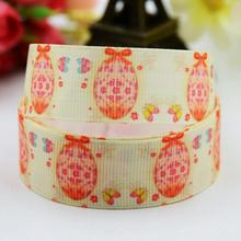7/8'' (22mm) Easter Eggs Cartoon Character printed Grosgrain Ribbon party decoration satin ribbons OEM 10 Yards X-00737