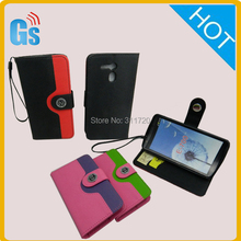 Ladies Purse Manufacturer China Two Colors Pu Leather Wallet Case for Acer Liquid E700