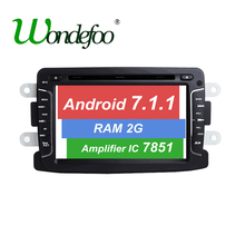 For Duster Dacia Sandero Renault Captur Lada Xray 2 Logan 2 Android 7.1 DVD player car GPS stereo RAM 2G radio screen navigation