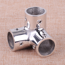 "CITALL 90 Degree 3 Way 22mm 7/8"" Corner Elbow Stainless Steel Marine Hardware Boat Hand Rail Fittings(China)"