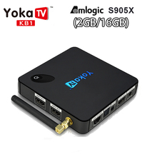 YOKATV KB1 HDMI 4K UHD Set TV Box Amlogic S912 Android 6.0 Quad Core WiFi BT 2.4G/5G 2GB/16GB ROM Media Player ship from Russia