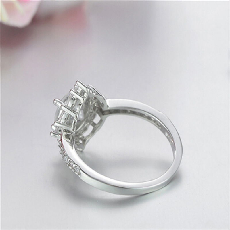 Limited edition Wedding ring Special moment for her Best gift Simple Top quality Silver Ring Engagement anel feminino 7
