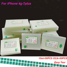 50PCS Original 250um OCA film for iPhone 4s 5 5s 6 6s 6 plus 7 7plus OCA Optical adhesive for Mitsubishi oca Adhesive repair(China)