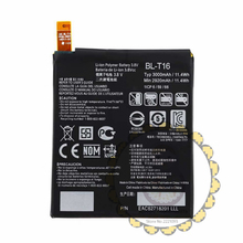 BL-T16 3000mAh 3.8V Li-ion Battery for LG G Flex 2 Vu 4 Vu4 H955 Batteries Bateria + Hard carton packing