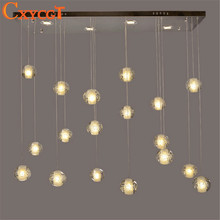 Creative meteor crystal magic ball chandelier led ceiling Light modern minimalist living room chandelier dining 14 Lights