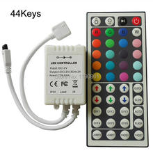 44key RGB led controller 12v - 24v LED strip Box Receiver IR Remote controller
