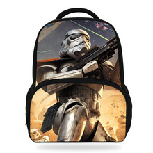 14Inch Popular Cartoon School Backpack For Children Star Wars Bag For Kids Boys Girls Teenagers