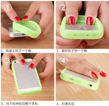 Anti-Knock Luminous bracelet Silicon case for Goclever quantum 500 case hand ring bumper cover for Goclever quantum 500
