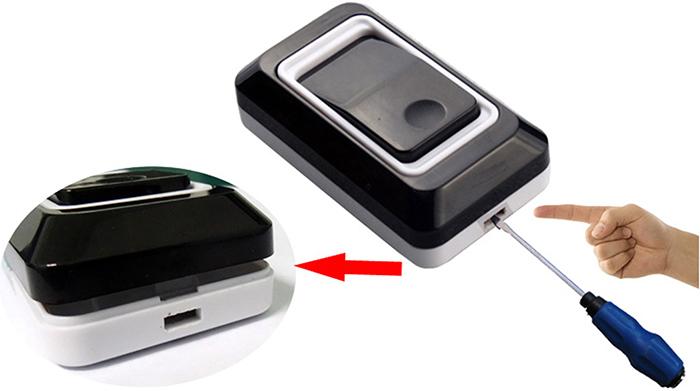 New Touch Sensor Design High Quality Wireless Doorbell Potty Bell for Dogs Waterproof  (Black) EU/US plug Led Light Door Bell