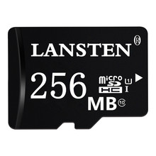 LANSTEN 500PCS/LOT  Micro SD Card 256MB Class 2 Real Capacity Memory Card One Year Warranty 256MB Class 2 MicroSD