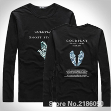 WORLD TOUR 2017 COLDPLAY T-SHIRT GHOST STORIES Mens Cotton long Sleeve T Shirts Euro Size S-XXXL