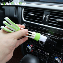 Onever Portable Double Ended Brush Car Air Conditioner Vent Slit Cleaner Brush Dashboard Dusting Blinds Keyboard Cleaning Brush(China)