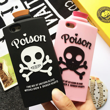 Fashion 3D Unicorn Blood Witch Brew&Broken Hearts Poison Bottle Silicon Phone Case Cover For iPhone 6S  6s Plus 7 P0.16