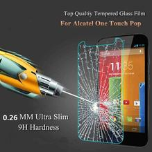 9H 0.25mm UltraThin Premium Tempered Glass For Alcatel One Touch POP 3 4 4S Pixi 4 Plus C7 C9 Idol 2 Screen Protector Film Case