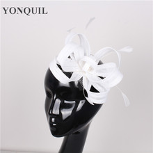 NEW ARRIVAL 17 colors imitation sinamay fascinator hat white cocktail hat  bridal wedding headwear beauty Derby hair accessories