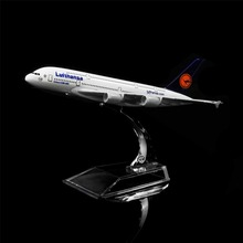 1:400 16cm Germany Lufthansa Airbus A380 Metal Airplane Model Office Decoration Toy Gift Idea(China)