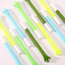 Free Shipping Creative Kawaii Green Onion Gel Pen Colorful Roller Ball Pen Gift for Children School Suppliers Novelty Stationery(China)