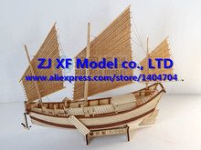 NIDALE model Free shipping Chinese ancient Classics wooden sailboat Model Shaoxing sail boat Assembly model kit
