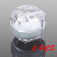 24 Pcs Acrylic Ring Display Box Storage Organizer Gift Package Case Transparent(China)