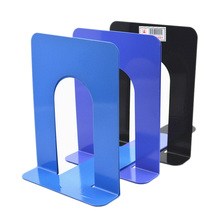 New 1 Pair Simple Life Foldable Portable Metal Bookends Shelf Holder Home Stationery Library School Office Stationery Supply(China)