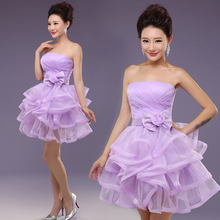 2017 new cheap special occasion beautiful grey tulle bridemaids dresses lavender short bridesmaid dress for weddings S2806