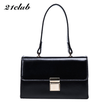 2017 women solid cover hasp flap bag handbag hotsale ladies party clutch purse famous brand messenger shoulder crossbody bags(China)