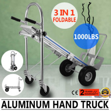 15% Discount 3-in-1 Aluminum Hand Truck Foldable Dolly Cart 1000 lb Capacity New