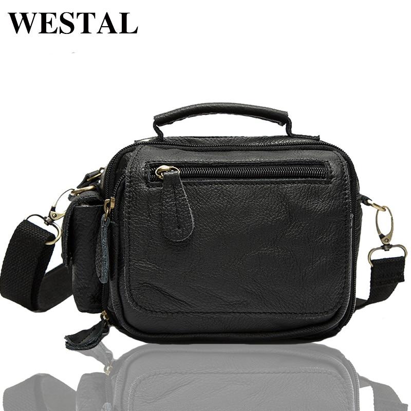WESTAL Messenger Bag Leather Men Bag Genuine Leather Shoulder Crossbody Bags for Man Small Chest Pack Multifunctional Waist Pack<br>