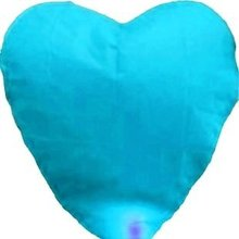 [ Fly Eagle ]10pcs /lot High Quality blue Heart-shape Sky Lanterns & Paper Lantern For Promotion Free Shipping