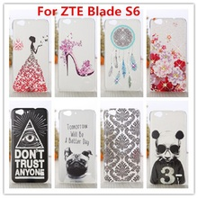 New ZTE Blade S6  Case /Luxury Crystal Diamond 3D Bling Hard Plastic Cover Case For ZTE Blade S6  (5 inch) Cell Phone Case