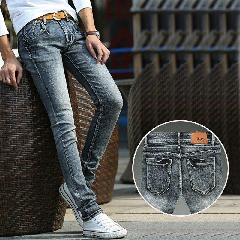 High quality cotton men black jeans, male retro stretch Slim pencil pants, famous brand fashion skinny jeans, Denim trousers 8 8Îäåæäà è àêñåññóàðû<br><br>